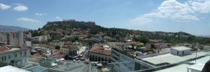 View of Athens from the rooftop bar