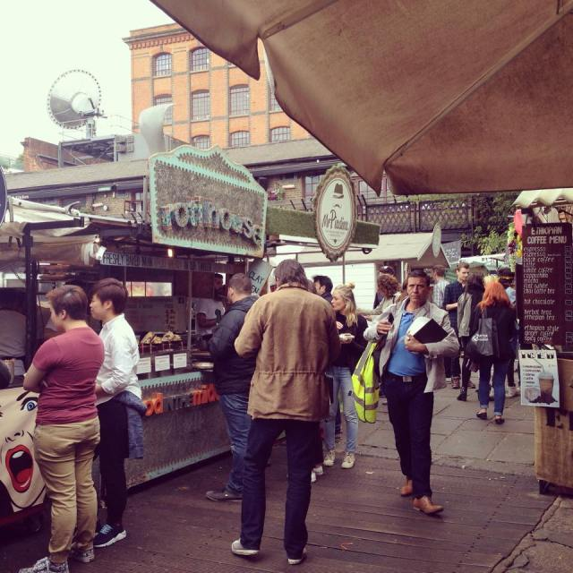 Camden food market. Photographer: Adrianna Anastasiades