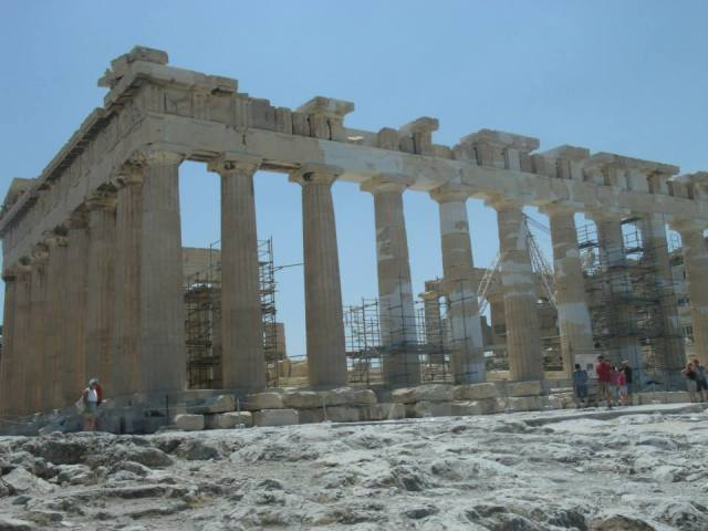 Parthenon temple at Acropolis Photographer: Adrianna Anastasiades